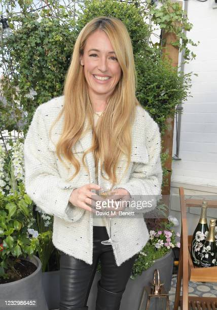 Cat Deeley attends the VIP launch of the French inspired dining escapade, the Perrier-Jouet 'Wild Jardin', at The AllBright Mayfair on May 19, 2021...