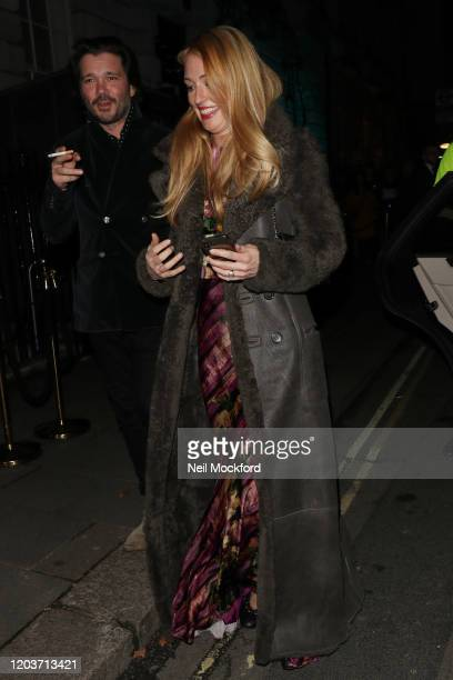 Cat Deeley attends the Vogue x Tiffany Fashion Film after party for the EE British Academy Film Awards 2020 at Annabel's on February 02 2020 in...