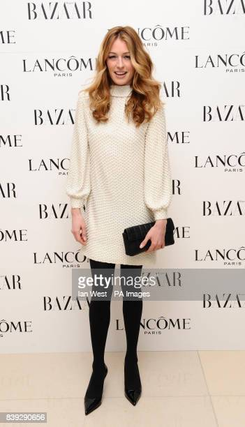 Cat Deeley during a preBafta party organized by Harpers Bazaar and Lancome at the St Martin's Lane Hotel in London