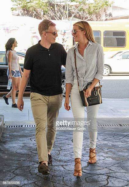 Cat Deeley is seen with her husband Patrick Kielty on August 09 2016 in Los Angeles California