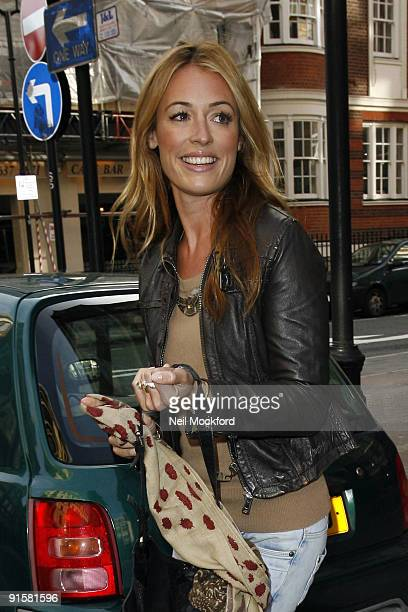 Cat Deeley leaving BBC Radio One before heading to Pineapple Studios where she is filming her new show 'So You Think You Can Dance' on October 8 2009...