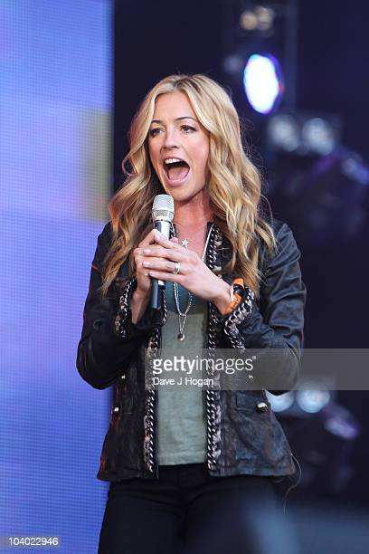 Cat Deeley performs at the Help The Heroes Concert 2010 held at Twickenham Stadium on September 12 2010 in London England