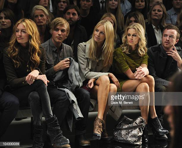 Cat Deeley Poppy Delevingne Donna Air and Aaron Paul attend the Burberry Prorsum Spring/Summer 2011 fashion show during LFW at Chelsea College of Art...