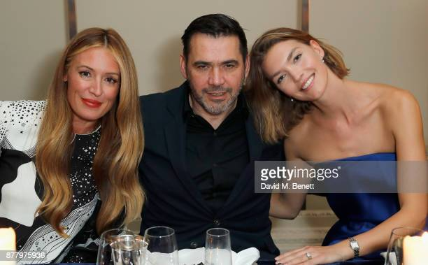 Cat Deeley Roland Mouret and Arizona Muse attend the launch of Roland Mouret's debut fragrance 'Une Amourette' in collaboration with Etat Libre on...