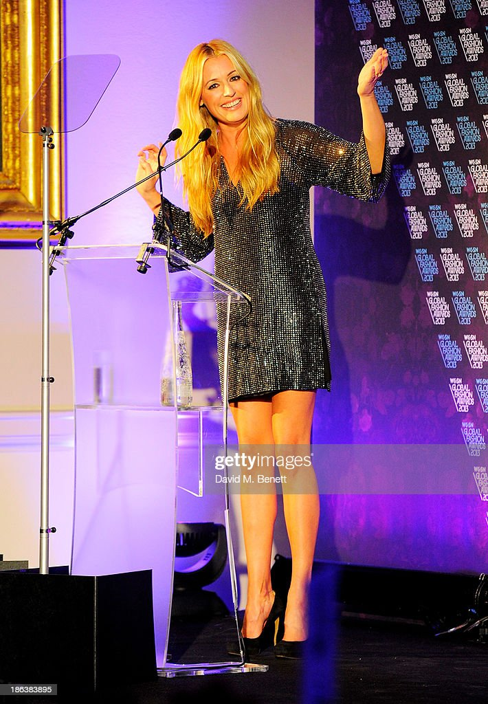 Cat Deeley speaks onstage at The WGSN Global Fashion Awards at the Victoria & Albert Museum on October 30, 2013 in London, England.