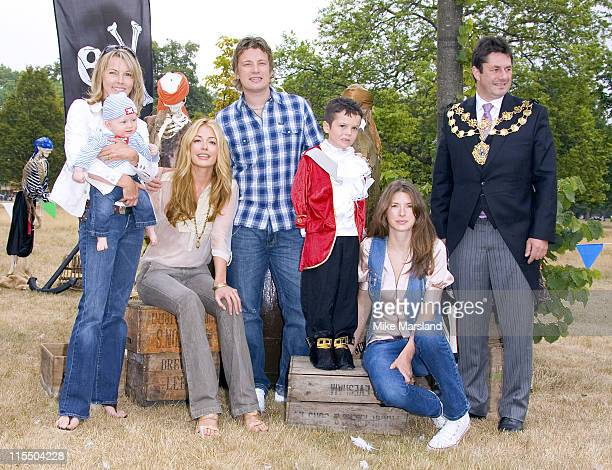 Cat Deeley The Lord Mayor of Westminster Jamie Oliver Jools Oliver and Mary Nightingale