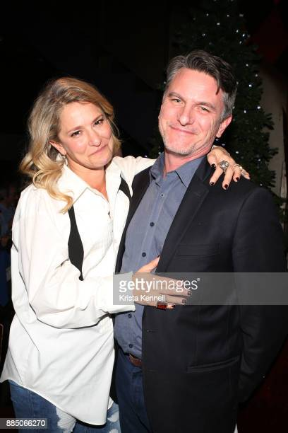 Cat Greenleaf and Michael Ray attend The Creative Coalition/Novocure Voices Of Impact Dinner at Carolines On Broadway on December 3 2017 in New York...