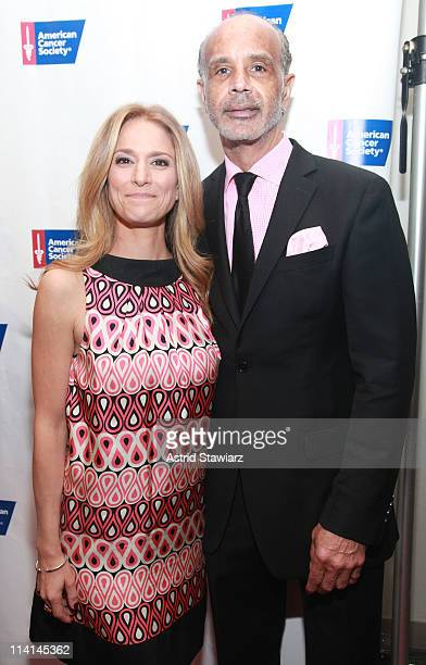 Cat Greenleaf and Ramon Hervey attend the 2011 American Cancer Society Pink Black Tie Gala at Steiner Studios on May 12 2011 in New York City