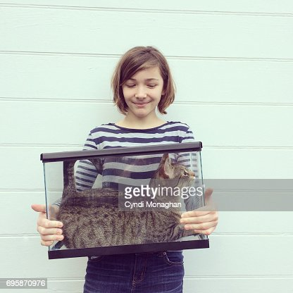 Cat in a Fish Tank