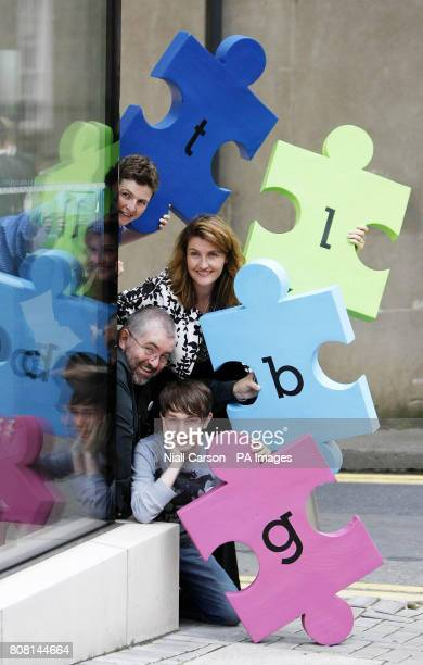 Cat McIlory Anna Nolan Patrick Dempsey and Bill Hughes during the launch of the LGBT Diversity programme at the Royal Hibernian Academy in Dublin