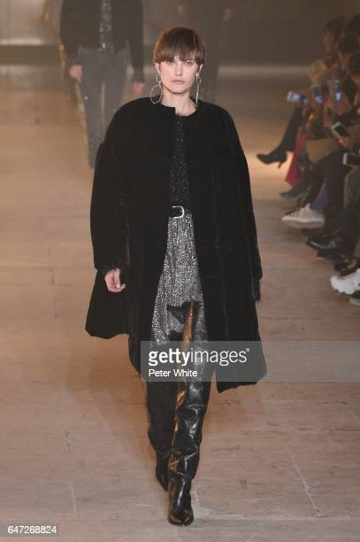 Cat McNeil walks the runway during the Isabel Marant show as part of the Paris Fashion Week Womenswear Fall/Winter 2017/2018 on March 2 2017 in Paris...