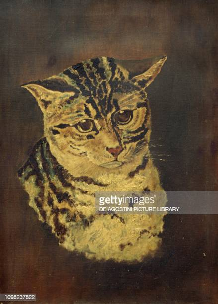 Cat oil on canvas United Kingdom 20th century
