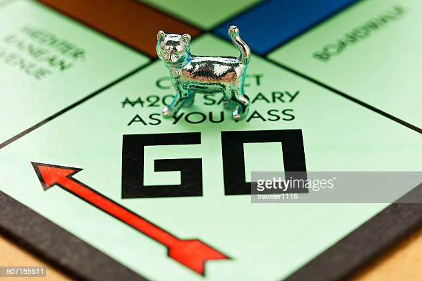 Cat Piece On A Monopoly Board