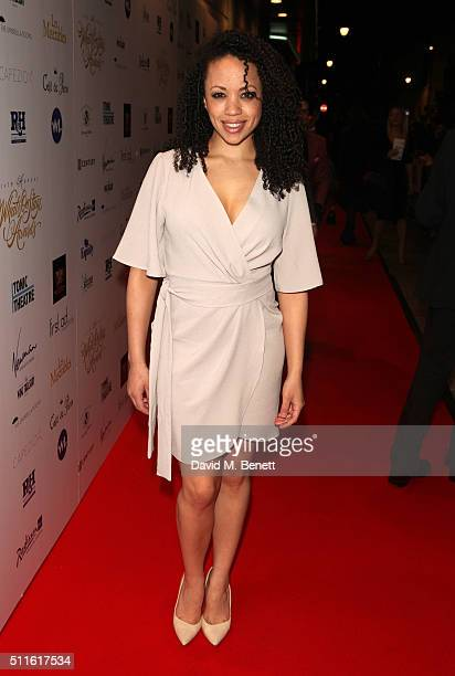 Cat Simmons attends the 16th Annual WhatsOnStage Awards at The Prince of Wales Theatre on February 21 2016 in London England