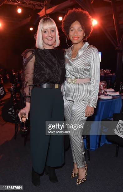 Cat Sims and Natalie Lee attend the SeriousFun Children's Network Campfire Bash on November 14 2019 in London England