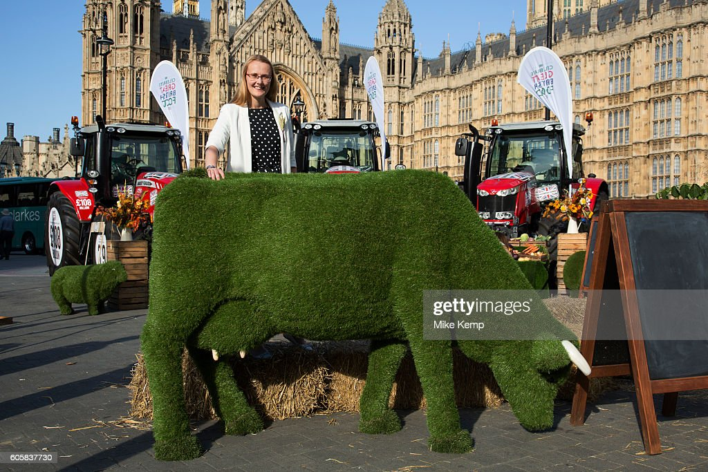 Cat Smith at the National Farmers Union (NFU) took machinery, produce, farmers and staff to Westminster to encourage Members of Parliament to back British farming, post Brexit on 14th September 2016 in London, United Kingdom. MPs were encouraged to sign the NFUs pledge and wear a British wheat and wool pin badge to show their support.
