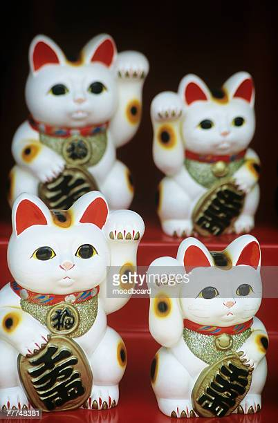 Cat Statuettes on Souvenir Stand