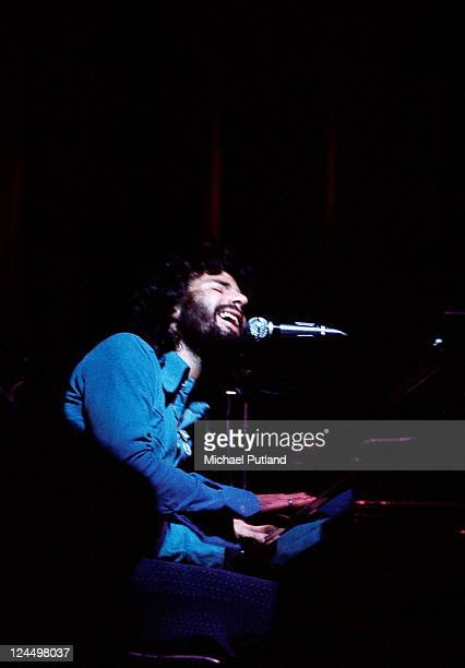 Cat Stevens performs on stage London 1972