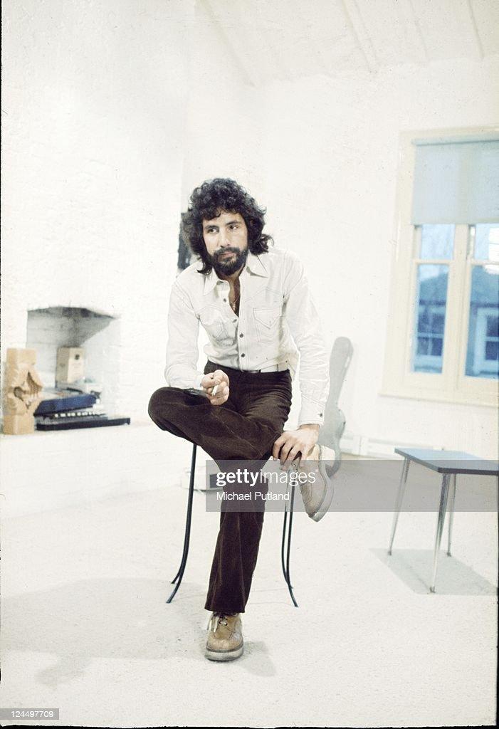 Cat Stevens, portrait, London, March 1974.