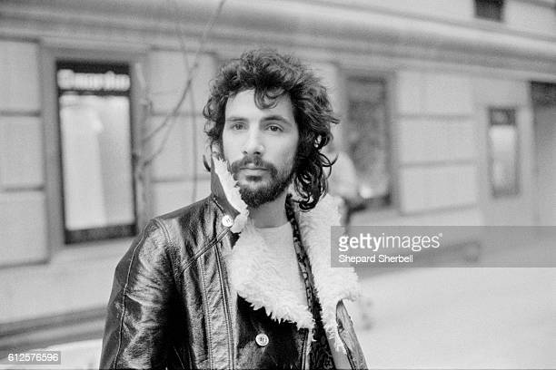 Cat Stevens Wearing Leather Jacket