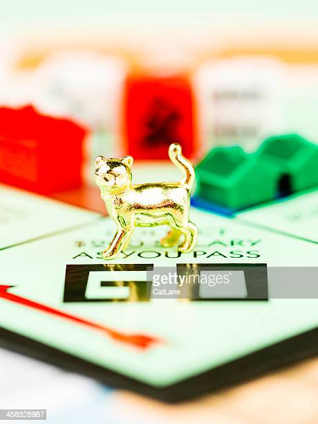 Cat Token on Monopoly Board