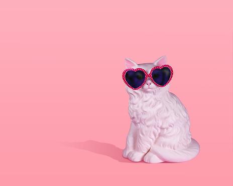 Cat wearing sunglasses - gettyimageskorea