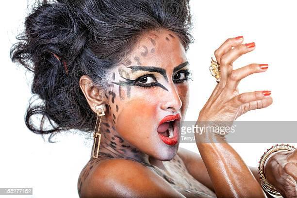 cat woman - indian actress stock photos and pictures