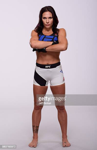 Cat Zingano poses for a portrait during a UFC photo session at the Monte Carlo Resort and Casino on July 6 2016 in Las Vegas Nevada