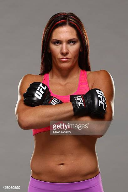 Cat Zingano poses for a portrait during a UFC photo session on September 24 2014 in Las Vegas Nevada