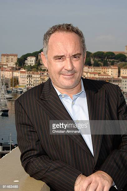 Catalan chef Ferran Adria attends a photocalll for 'Canal Cultura' during the 25th MIPCOM on October 5, 2009 in Cannes, France.