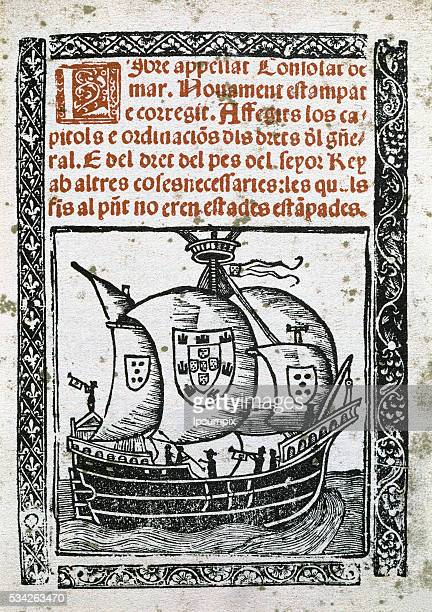 Catalan literature 14th and 15th Centuries Book of the Consulate of the Sea Cover of the edition printed in Barcelona by Ballester and Gilio in 1523