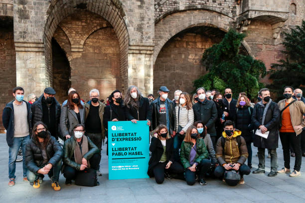 ESP: Catalan Music Academy Protest For Pablo Hasel In Barcelona