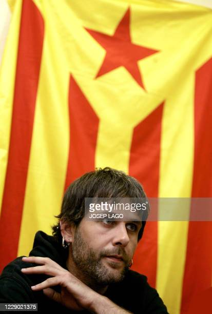 Catalan nationalist Jaume Roure gives a press conference in Girona, 30 October 2007. Roure was arrested last month after setting fire to pictures of...