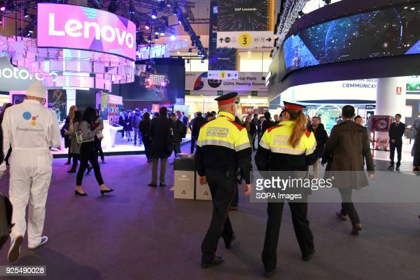 Catalan police officers seen on duty at the Mobile World Congress The Mobile World Congress 2018 is being hosted in Barcelona from 26 February to 1st...