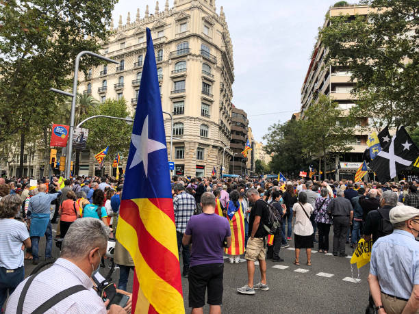 ESP: Spanish Protests Supporting Arrested Charles Puigdemont Outside Italian Consulate