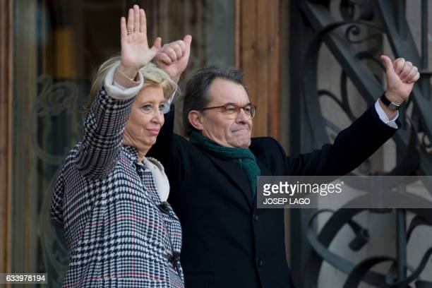 Catalan president Former President of the Catalan Government and leader of Partit Democrata Europeu Catala PDECAT Artur Mas and former Minister of...
