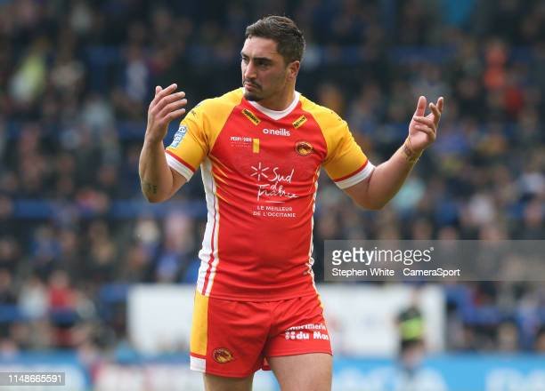 Catalans Dragons' Tony Gigot during the Betfred Super League Round 17 match between Warrington Wolves and Catalans Dragons at The Halliwell Jones...