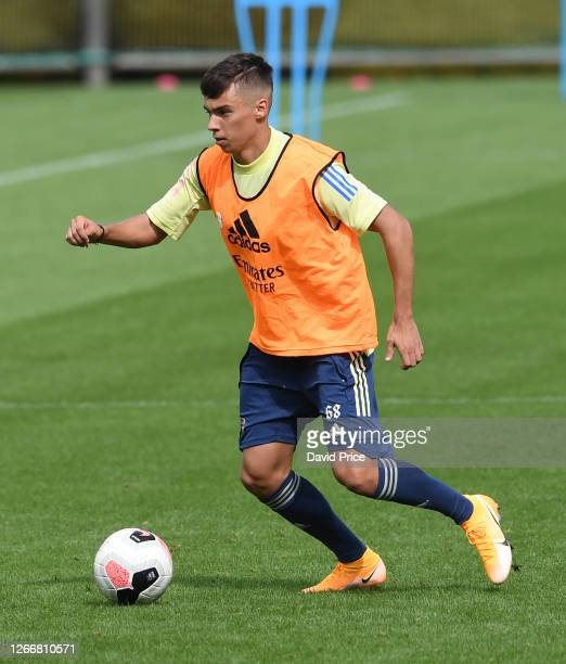 Catalin Cirjan of Arsenal during the Arsenal U23 training session at London Colney on August 17, 2020 in St Albans, England.
