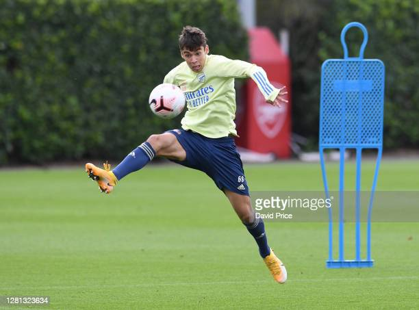 Catalin Cirjan of Arsenal trains during the Arsenal U23 training session at London Colney on October 20, 2020 in St Albans, England.