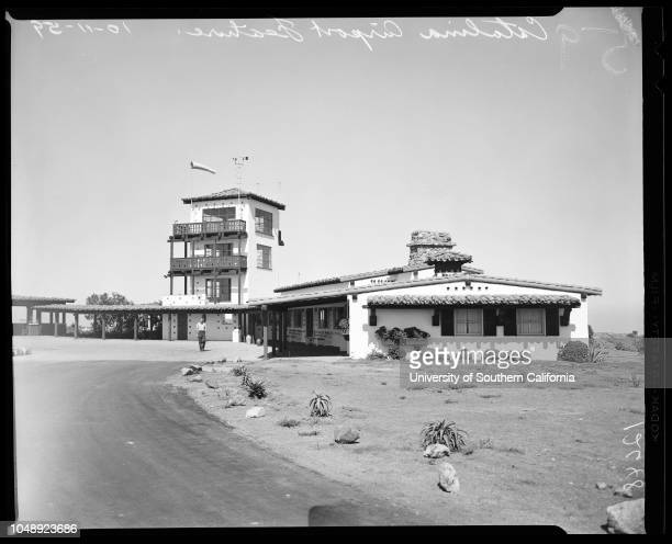 Catalina Airport feature 8 October 1959 General views etcCaption slip reads 'Photographer Emery Date Reporter Emery to RW Assignment Catalina airport...