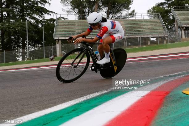 Catalina Anais Soto Campos of Chile / Autodromo Enzo e Dino Ferrari / during the 93rd UCI Road World Championships 2020, Women Elite Individual Time...