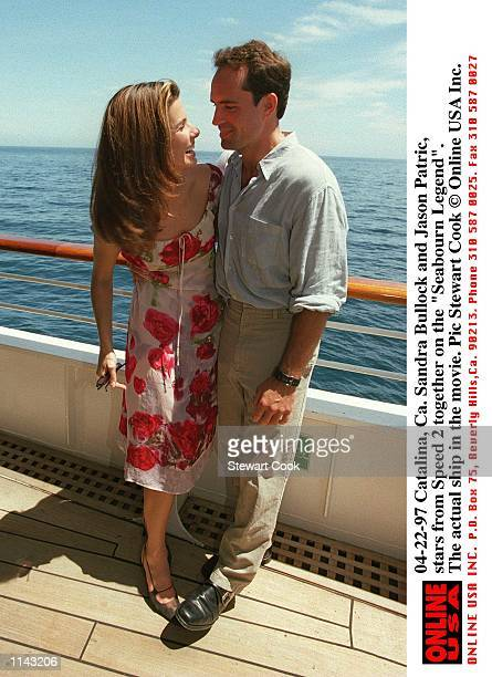 Catalina Ca Sandra Bullock and Jason Patric stars from the movie Speed 2 together on the 'Seabourn Legend' teh ship used in the movie
