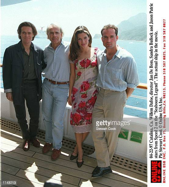 Catalina Ca Willem Dafoe Jan De Bom Sandra Bullock and Jason Patric stars from the movie Speed 2 together on the 'Seabourn Legend' The actual ship...