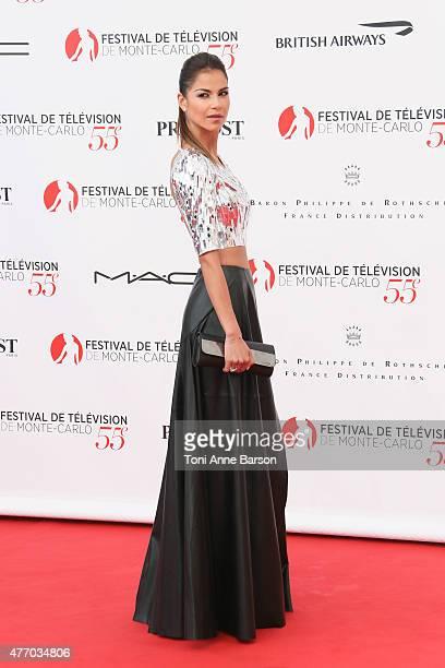 Catalina Denis attends the 55th Monte Carlo TV Festival Opening Ceremony at the Grimaldi Forum on June 13 2015 in MonteCarlo Monaco