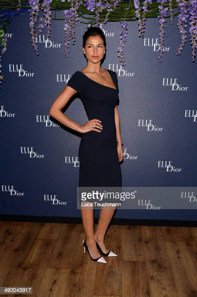 Catalina Denis attends the Dior ELLE Magazine Dinner at the 67th Annual Cannes Film Festival at Albane by Costes JW Marriott Rooftop on May 18 2014...