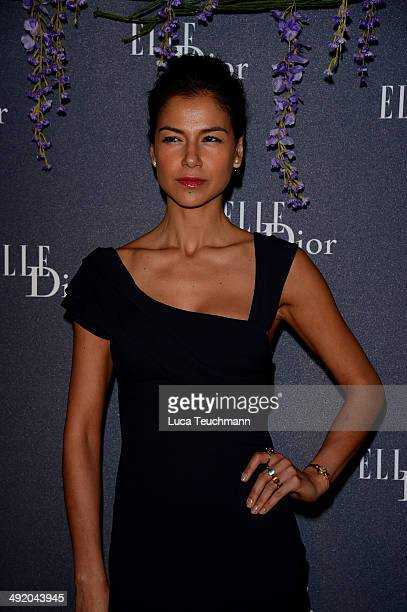 Catalina Denis attends the Dior & ELLE Magazine Dinner at the 67th Annual Cannes Film Festival at Albane by Costes, JW Marriott Rooftop on May 18,...