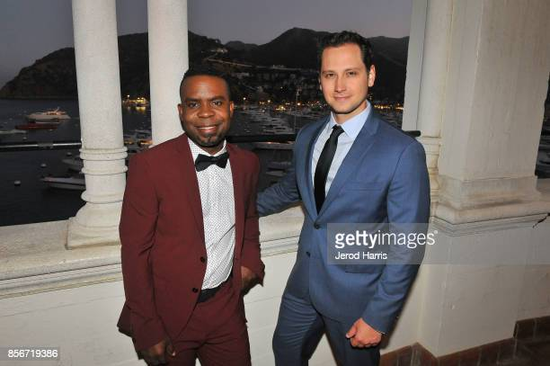 Catalina Film Festival cofounder Tim Kennedy and actor Matt McGorry attend the 2017 Catalina Film Festival on September 30 2017 in Catalina Island...