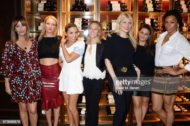 Catalina Guirado Kiera Chaplin Elen Rivas Marie Sophie Vaucher Meredith Ostrom Kiran Sharma and Jade Johnson attend the Centrepoint VIP Dinner hosted...