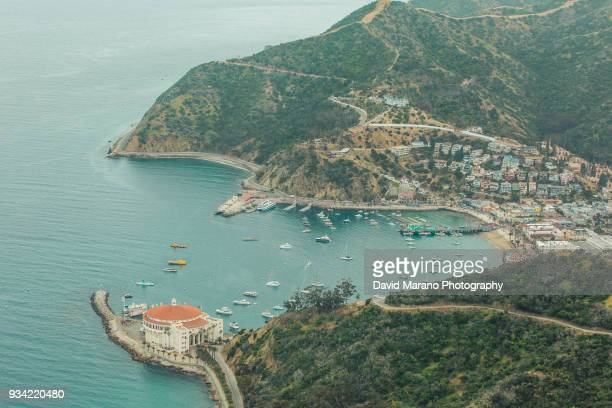 catalina island harbor view - catalina island stock photos and pictures