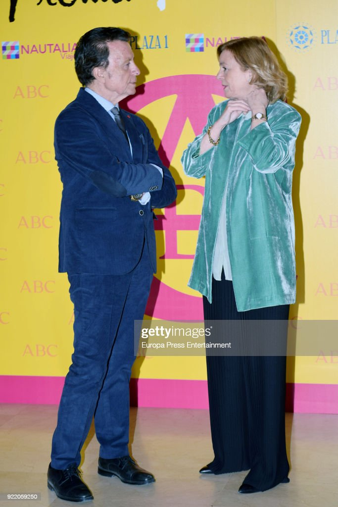 Catalina Luca de Tena and Jose Ortega Cano attend the 'Premio Taurino ABC' awards at the ABC Library on February 20, 2018 in Madrid, Spain.